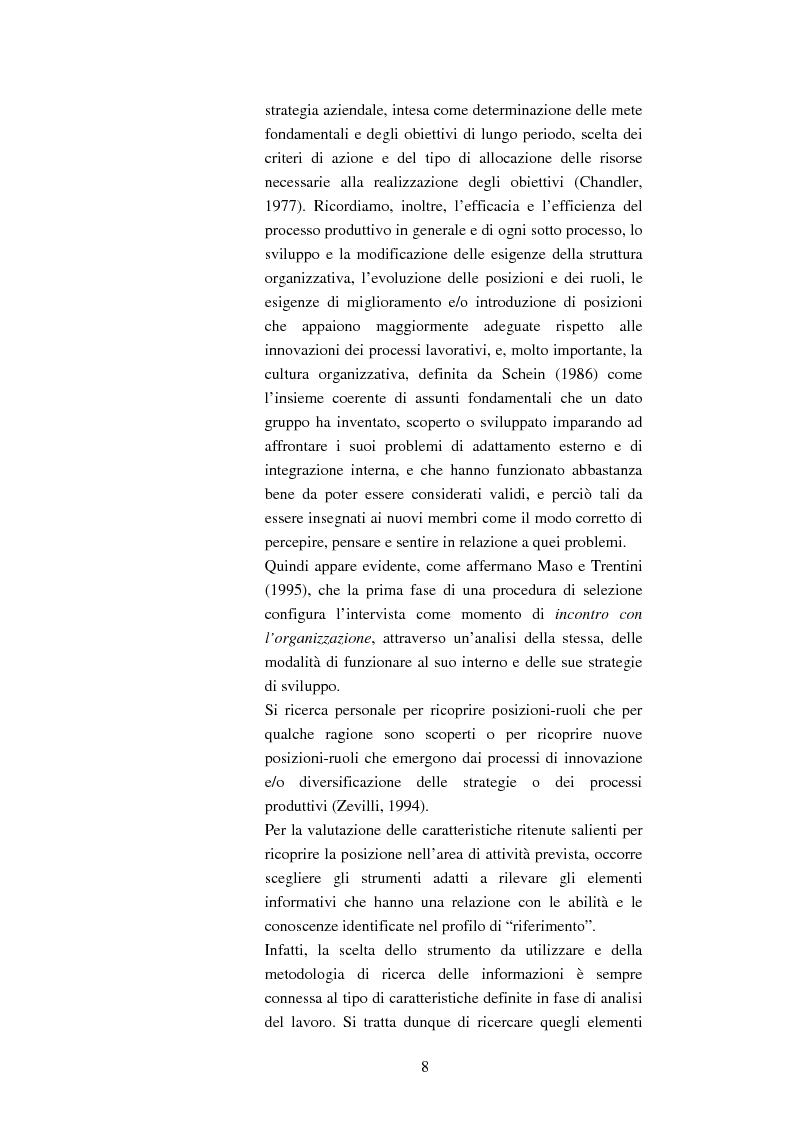 Anteprima della tesi: L'uso e la validità dell'intervista di selezione nella psicologia del lavoro e delle organizzazioni, Pagina 4