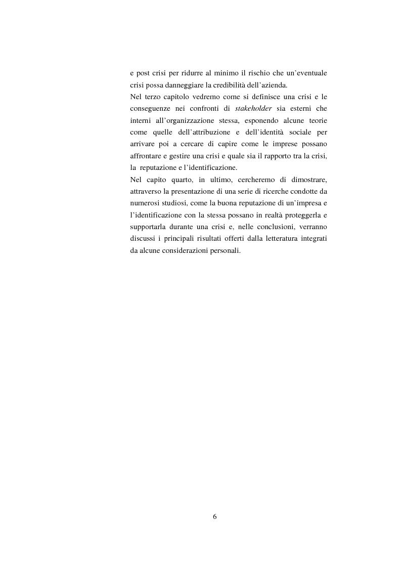 Anteprima della tesi: Il ruolo della reputazione nella gestione della crisi, Pagina 2