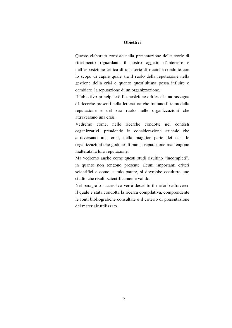 Anteprima della tesi: Il ruolo della reputazione nella gestione della crisi, Pagina 3