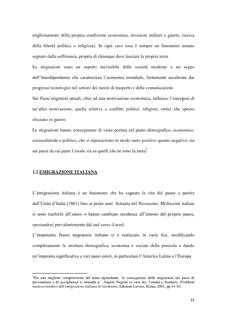 Anteprima della tesi: Integrazione e successo scolastico dei figli degli immigrati italiani in Germania. Uno studio basato sull'attività del Consolato Italiano di Stoccarda., Pagina 7