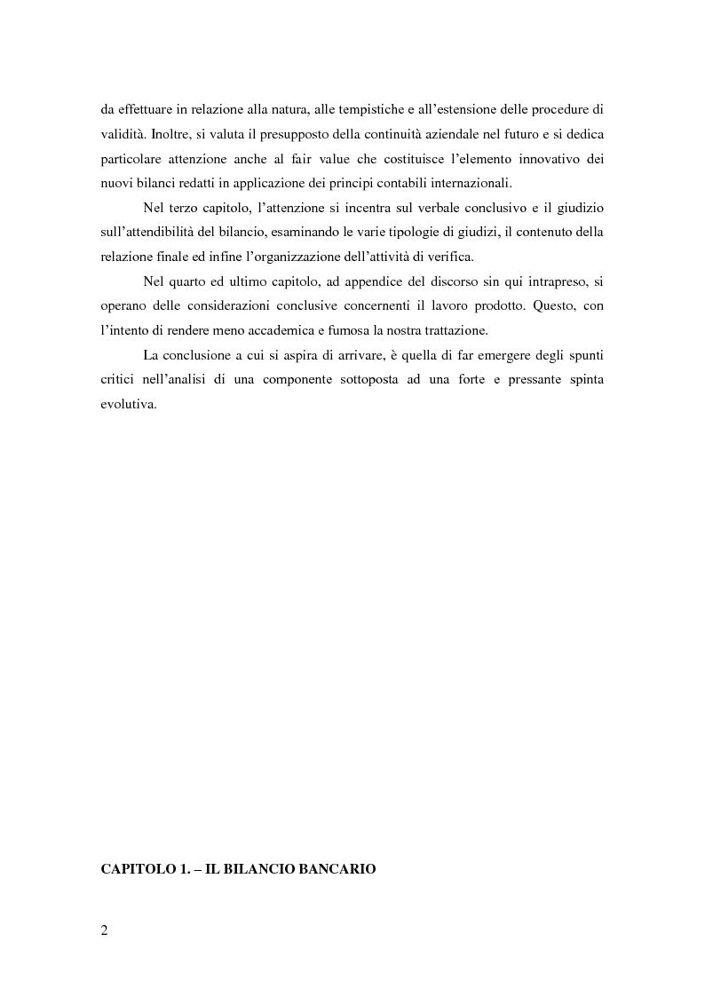 Anteprima della tesi: La revisione del bilancio di esercizio nelle BCC, Pagina 2