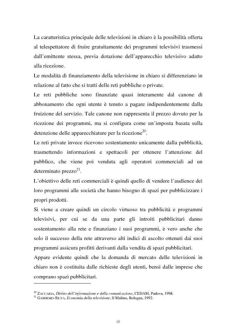 Anteprima della tesi: Diritti televisivi: analisi di un fenomeno che ha cambiato il mondo del calcio, Pagina 12