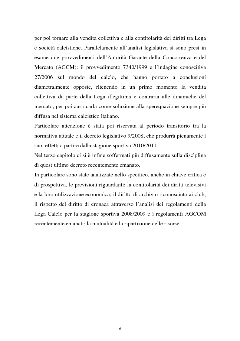Anteprima della tesi: Diritti televisivi: analisi di un fenomeno che ha cambiato il mondo del calcio, Pagina 3