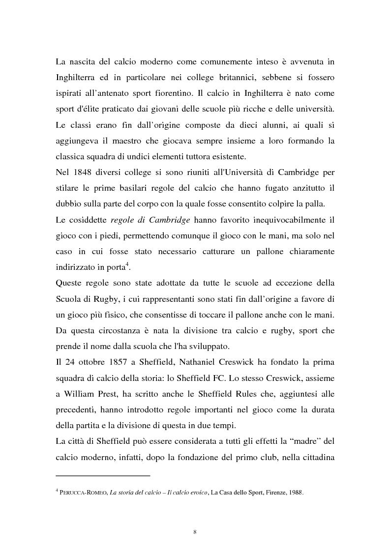 Anteprima della tesi: Diritti televisivi: analisi di un fenomeno che ha cambiato il mondo del calcio, Pagina 5