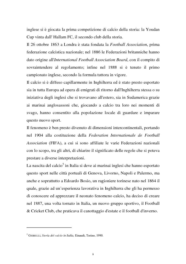 Anteprima della tesi: Diritti televisivi: analisi di un fenomeno che ha cambiato il mondo del calcio, Pagina 6