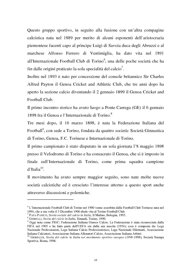 Anteprima della tesi: Diritti televisivi: analisi di un fenomeno che ha cambiato il mondo del calcio, Pagina 7