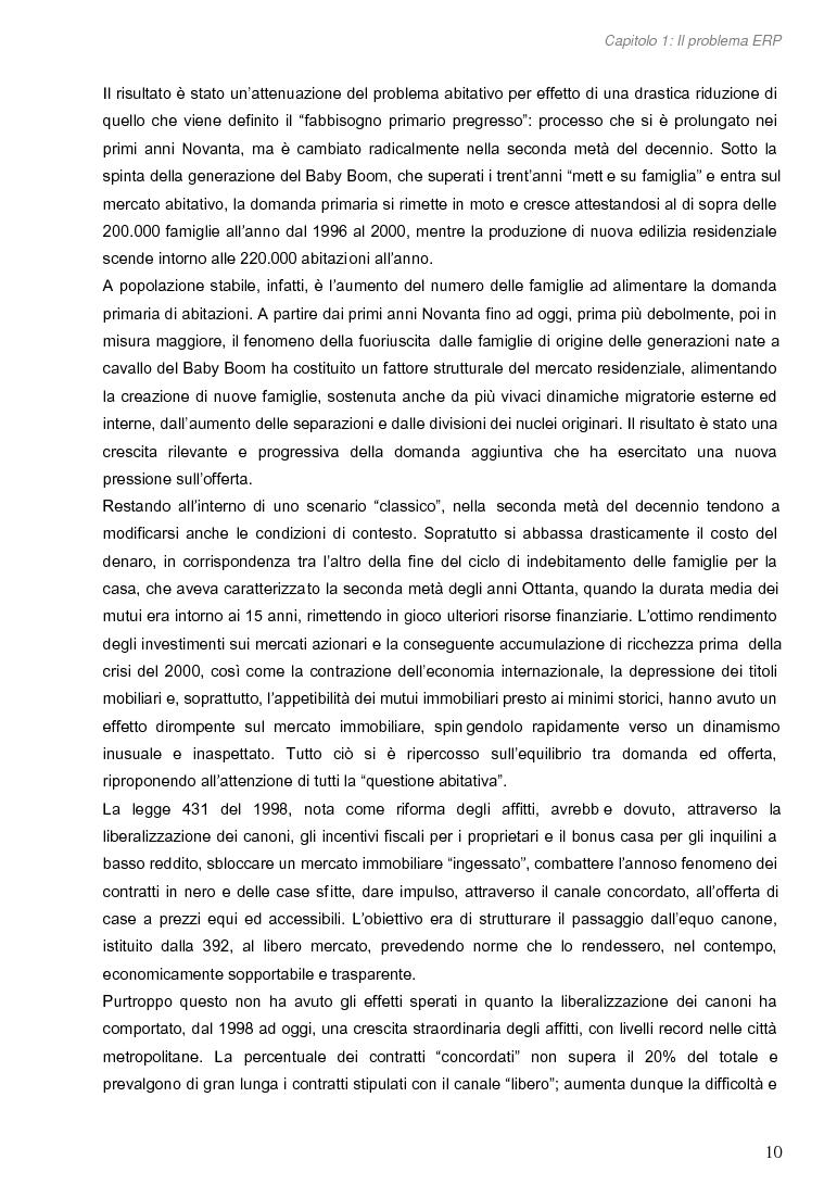 Anteprima della tesi: Opportunità di miglioramento nella gestione del patrimonio di edilizia residenziale pubblica in Lombardia: il caso del Comune di Cremona, Pagina 10