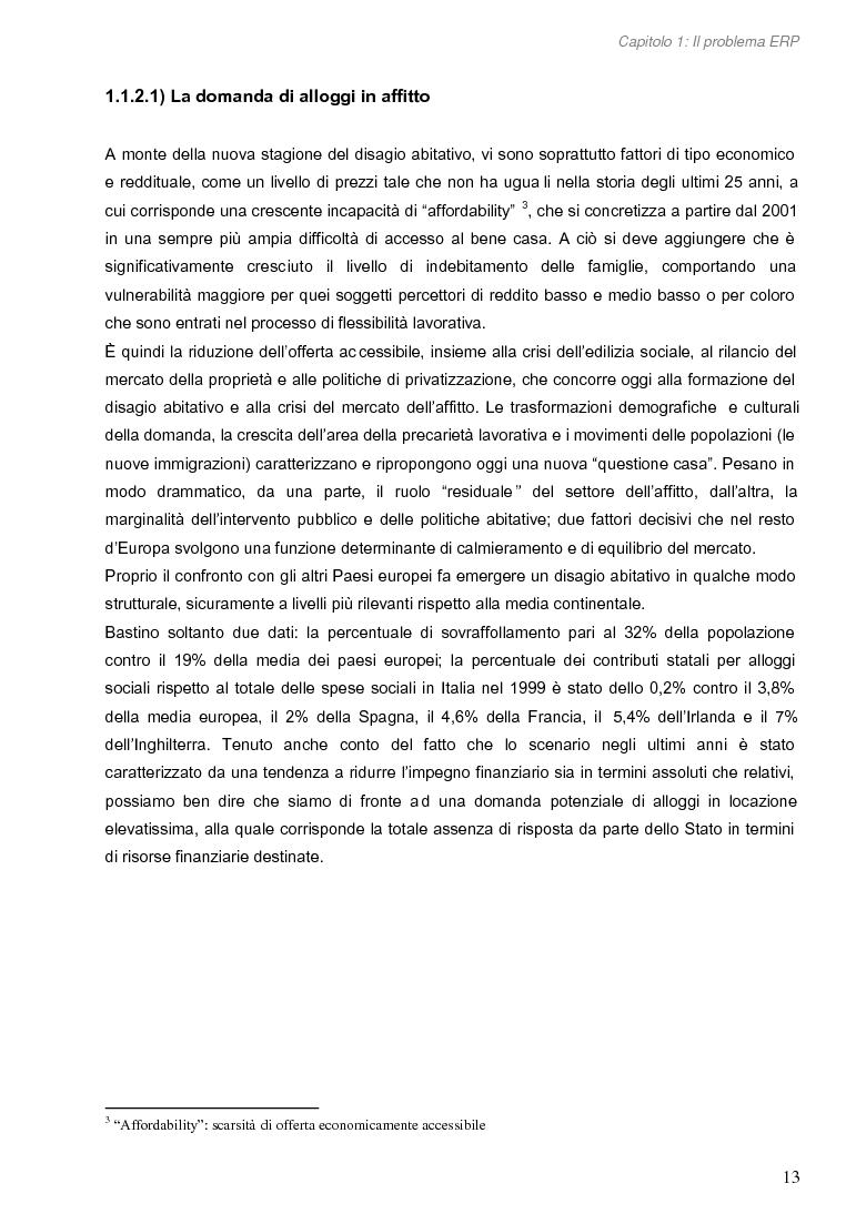 Anteprima della tesi: Opportunità di miglioramento nella gestione del patrimonio di edilizia residenziale pubblica in Lombardia: il caso del Comune di Cremona, Pagina 13