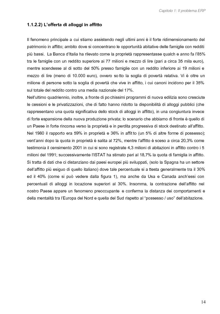Anteprima della tesi: Opportunità di miglioramento nella gestione del patrimonio di edilizia residenziale pubblica in Lombardia: il caso del Comune di Cremona, Pagina 14