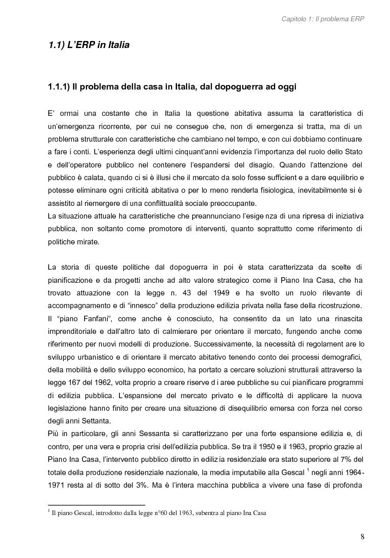 Anteprima della tesi: Opportunità di miglioramento nella gestione del patrimonio di edilizia residenziale pubblica in Lombardia: il caso del Comune di Cremona, Pagina 8