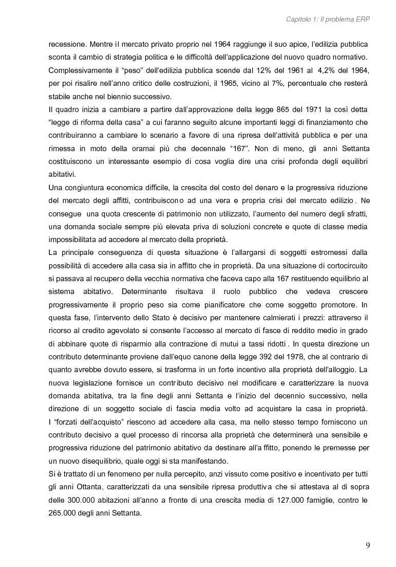 Anteprima della tesi: Opportunità di miglioramento nella gestione del patrimonio di edilizia residenziale pubblica in Lombardia: il caso del Comune di Cremona, Pagina 9