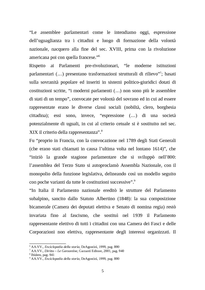 Anteprima della tesi: Il legislativo in Italia e in Francia: esperienze a confronto, Pagina 3