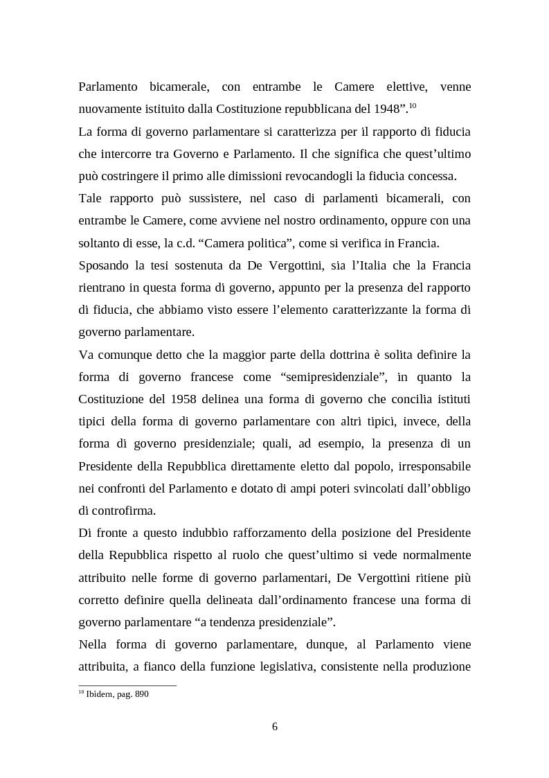 Anteprima della tesi: Il legislativo in Italia e in Francia: esperienze a confronto, Pagina 4