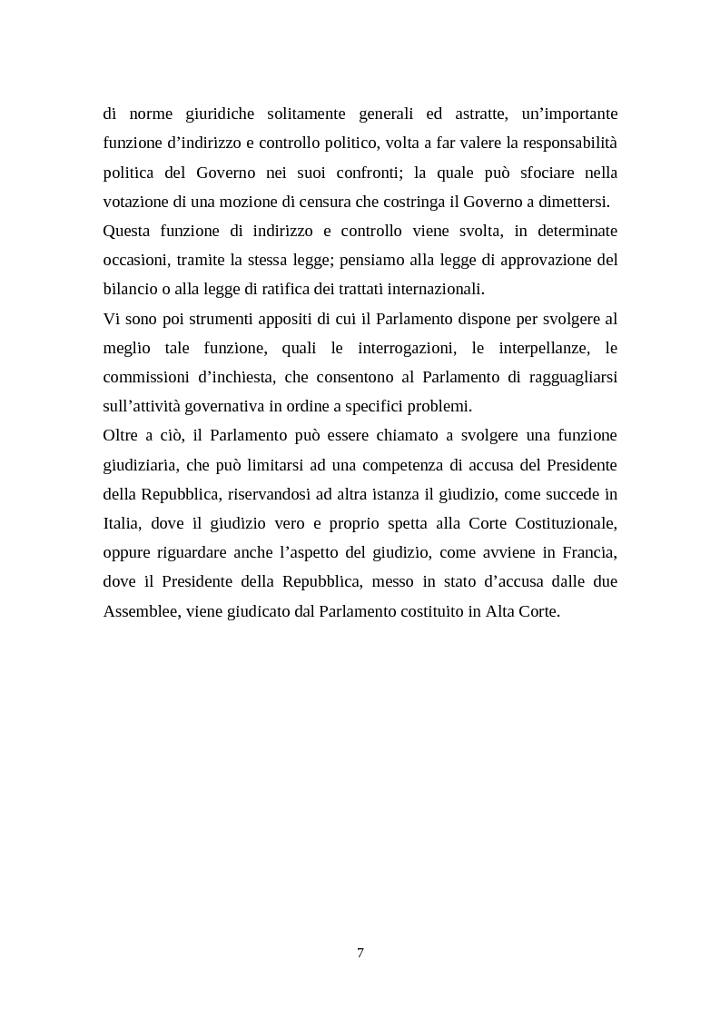 Anteprima della tesi: Il legislativo in Italia e in Francia: esperienze a confronto, Pagina 5