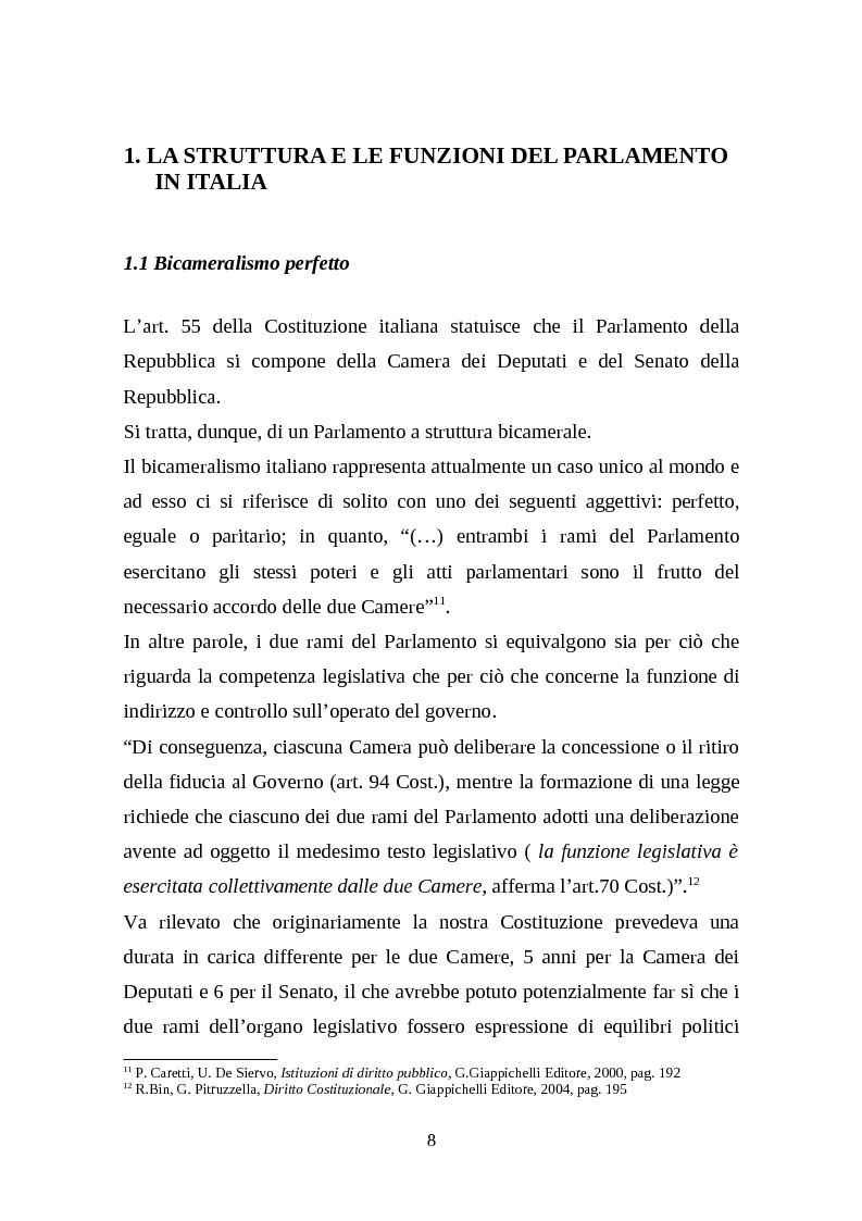 Anteprima della tesi: Il legislativo in Italia e in Francia: esperienze a confronto, Pagina 6