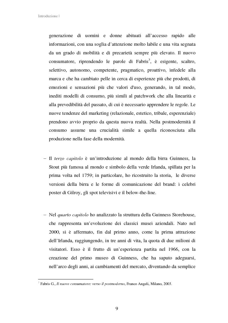 Anteprima della tesi: Experiential Marketing: il caso della Guinness Storehouse, Pagina 3