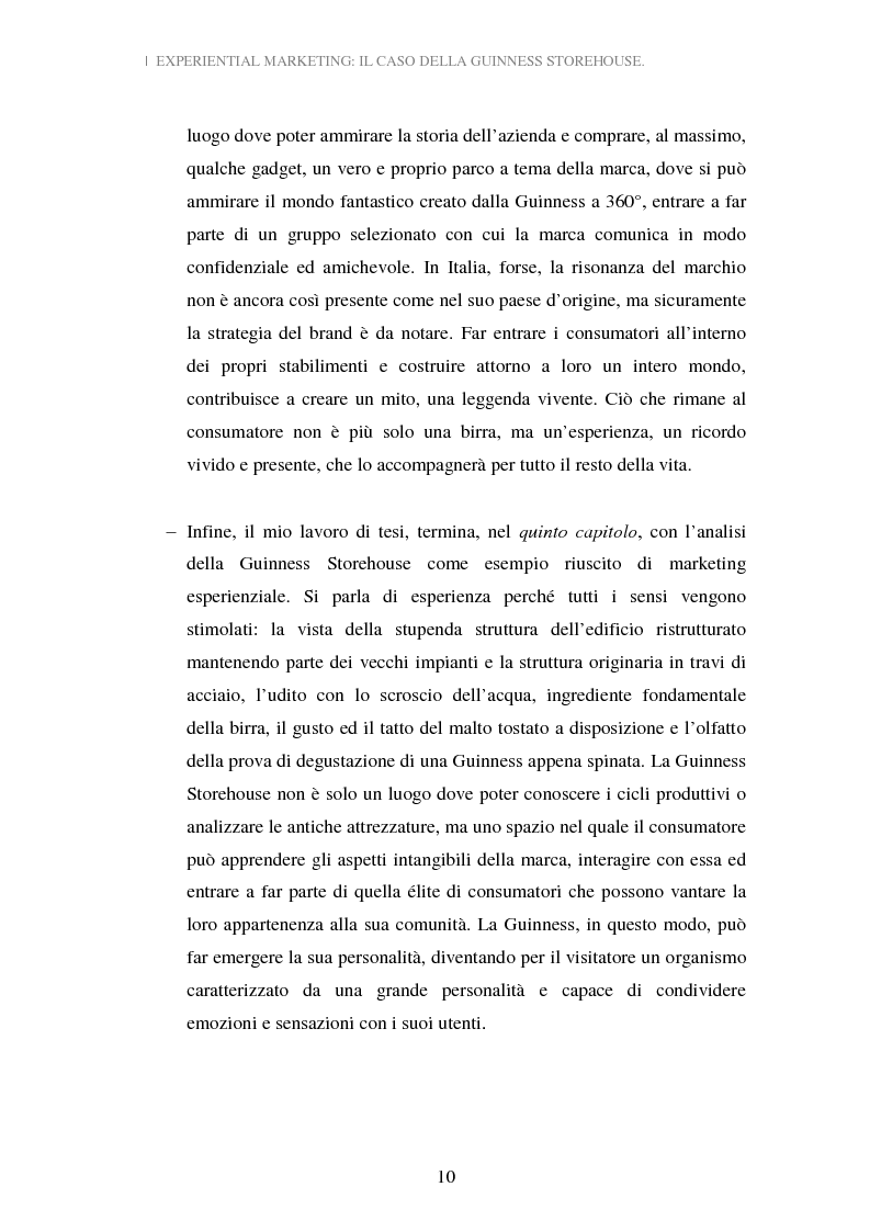 Anteprima della tesi: Experiential Marketing: il caso della Guinness Storehouse, Pagina 4