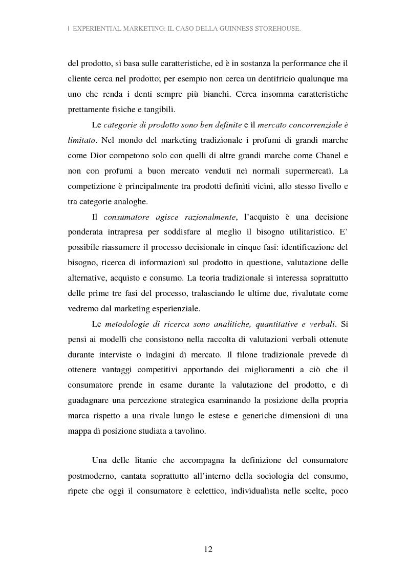 Anteprima della tesi: Experiential Marketing: il caso della Guinness Storehouse, Pagina 6