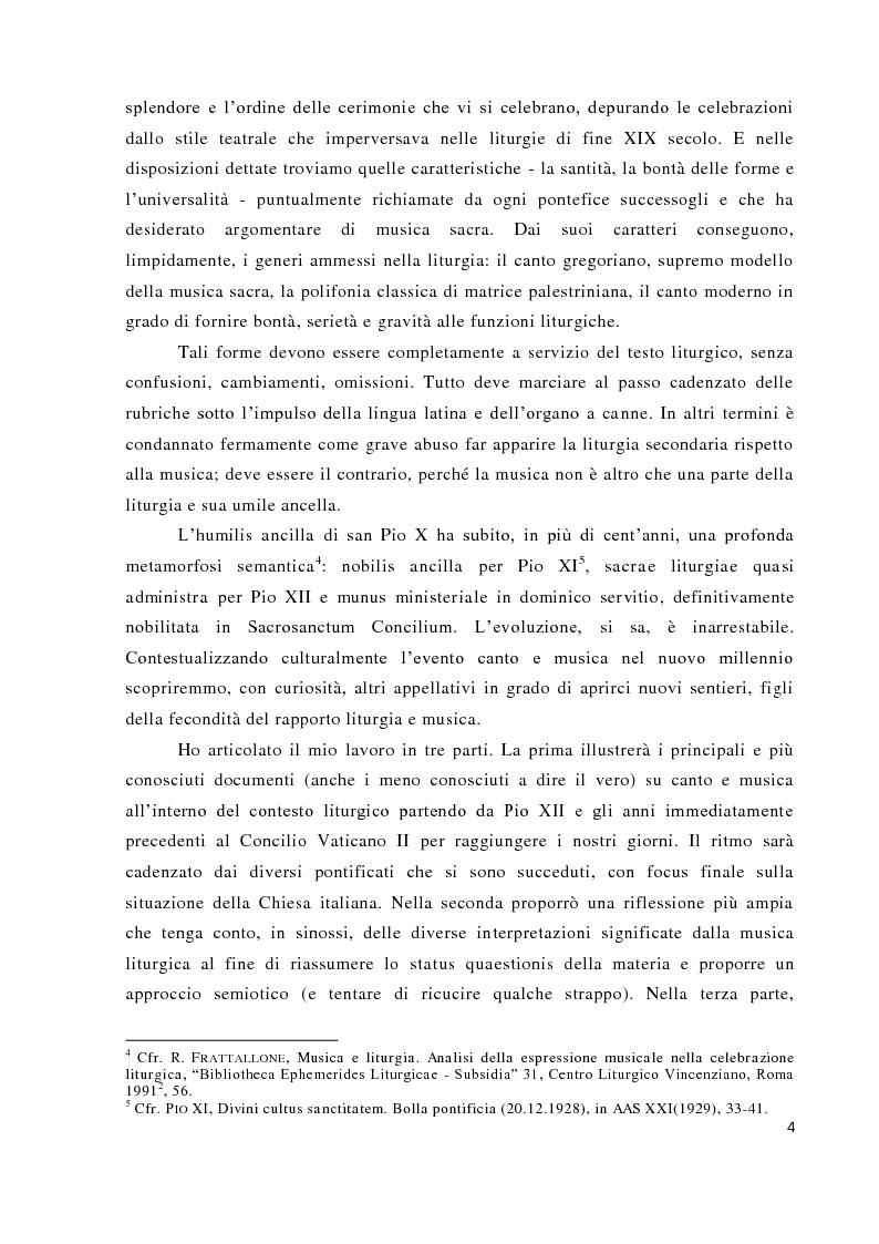 Anteprima della tesi: Musica tra liturgia e comunicazione, Pagina 2