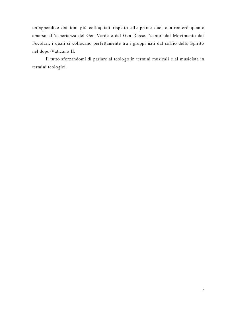 Anteprima della tesi: Musica tra liturgia e comunicazione, Pagina 3