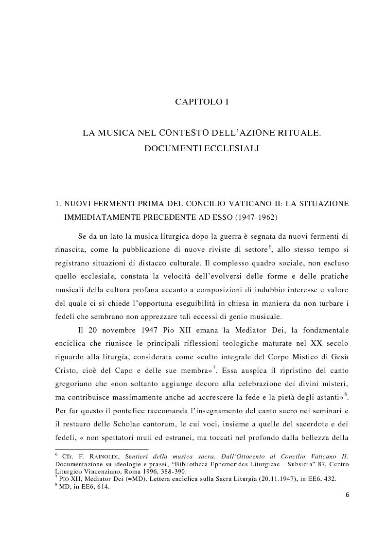 Anteprima della tesi: Musica tra liturgia e comunicazione, Pagina 4