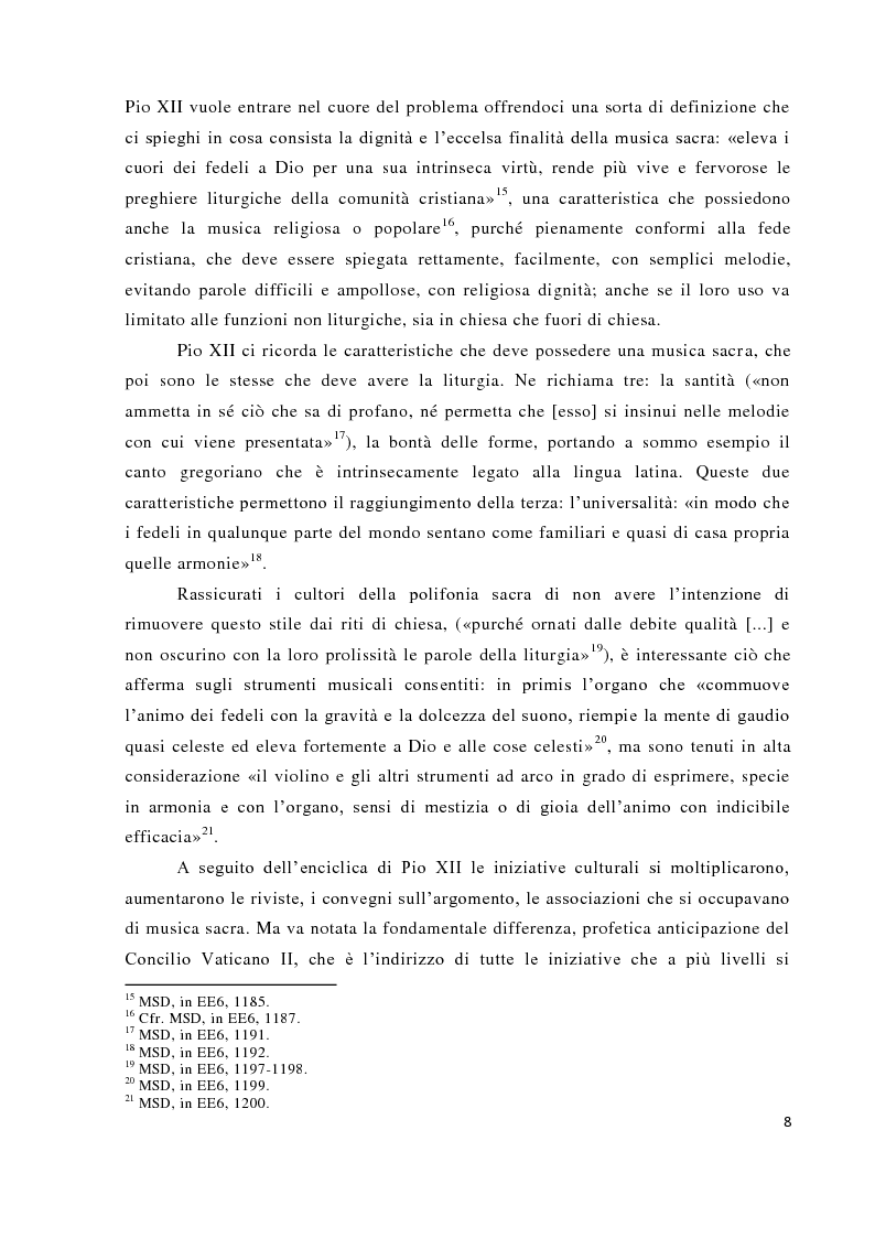 Anteprima della tesi: Musica tra liturgia e comunicazione, Pagina 6
