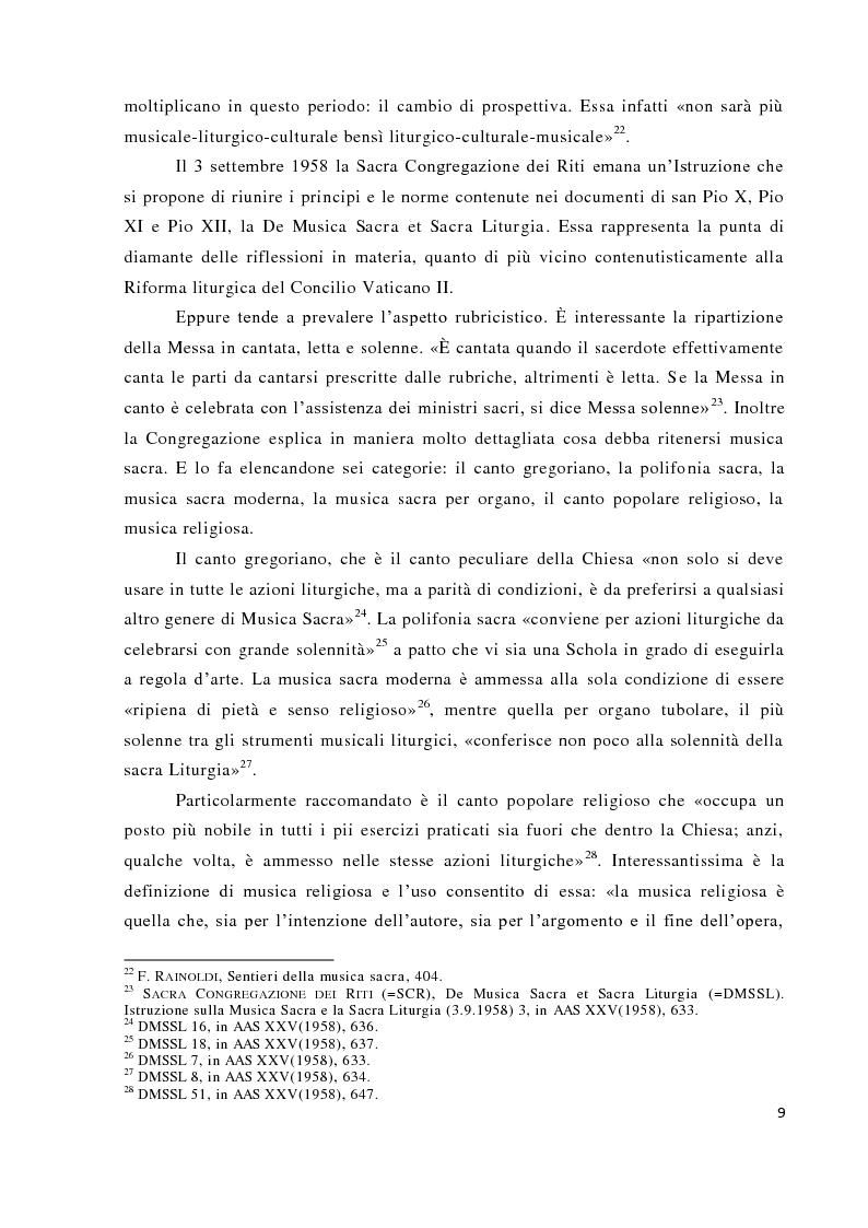 Anteprima della tesi: Musica tra liturgia e comunicazione, Pagina 7