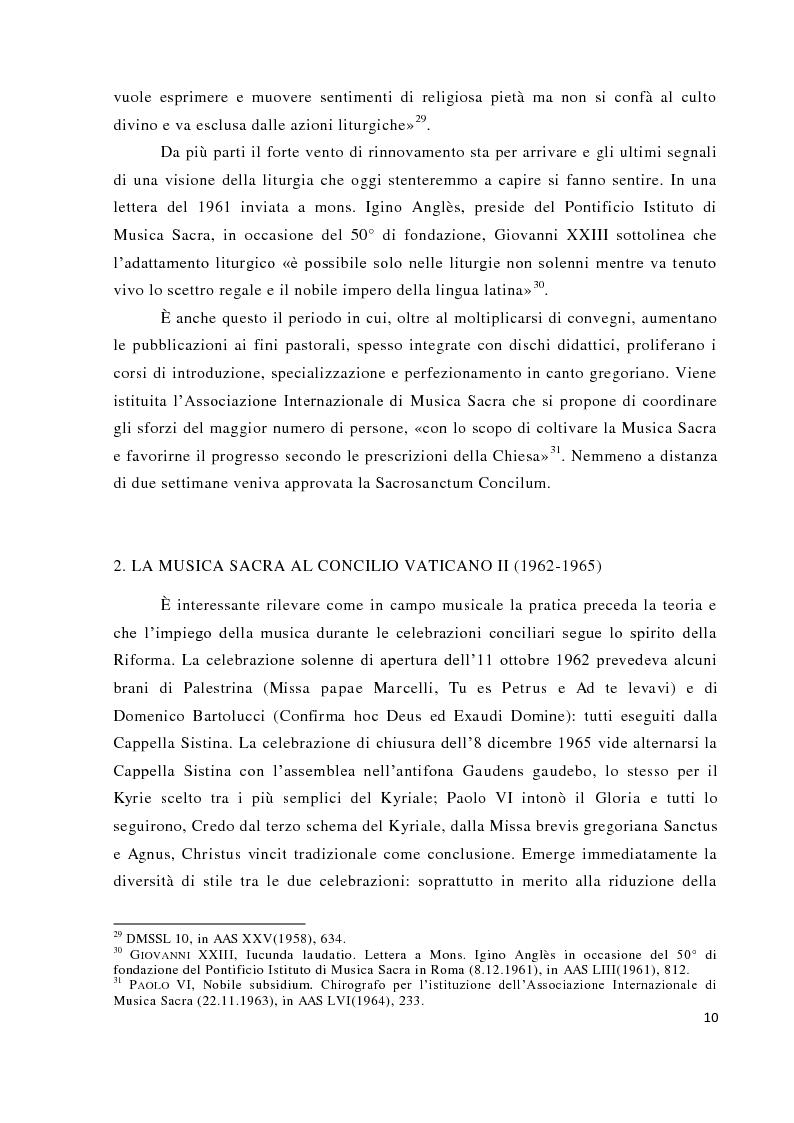 Anteprima della tesi: Musica tra liturgia e comunicazione, Pagina 8