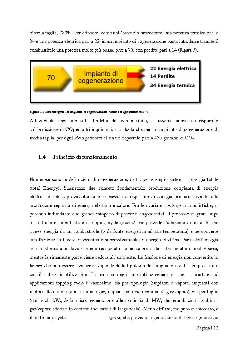 """Anteprima della tesi: Analisi tecnico-economica di impianti di cogenerazione ad alto rendimento ed integrazione con un modello """"Gas Price Sensitivity'', Pagina 10"""