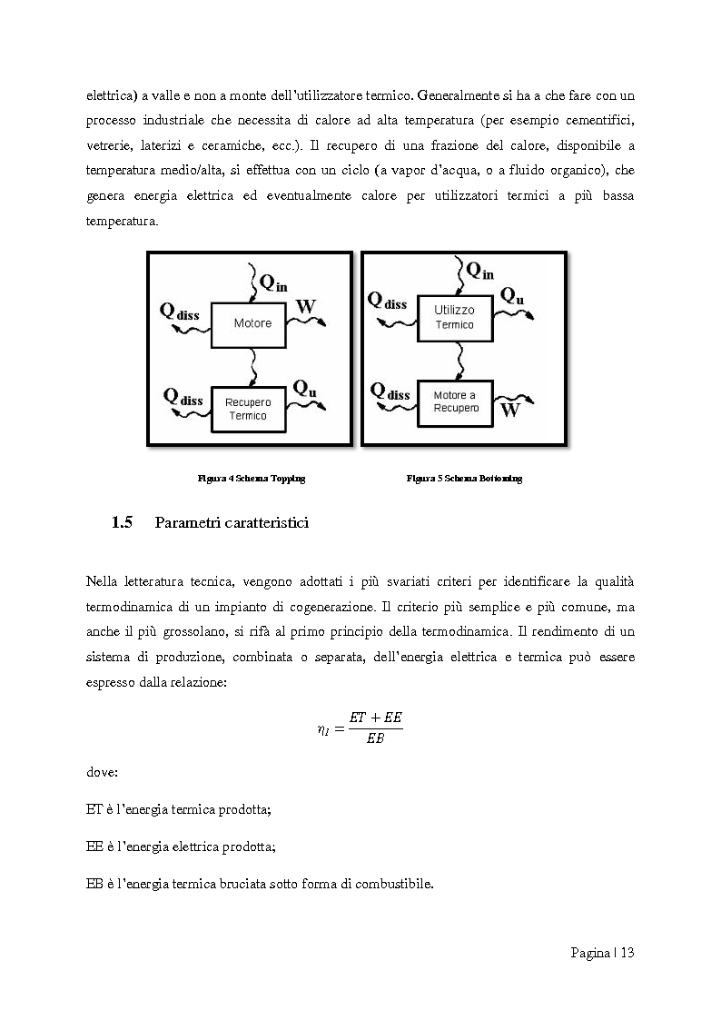 """Anteprima della tesi: Analisi tecnico-economica di impianti di cogenerazione ad alto rendimento ed integrazione con un modello """"Gas Price Sensitivity'', Pagina 11"""
