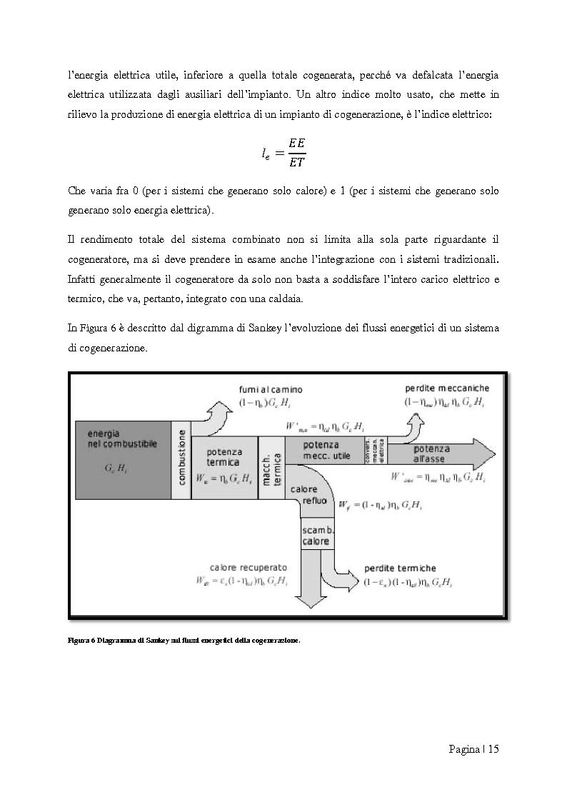 """Anteprima della tesi: Analisi tecnico-economica di impianti di cogenerazione ad alto rendimento ed integrazione con un modello """"Gas Price Sensitivity'', Pagina 13"""