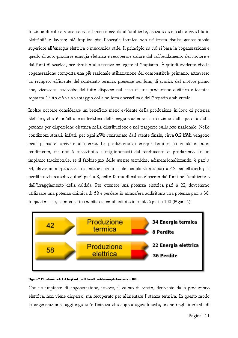 """Anteprima della tesi: Analisi tecnico-economica di impianti di cogenerazione ad alto rendimento ed integrazione con un modello """"Gas Price Sensitivity'', Pagina 9"""