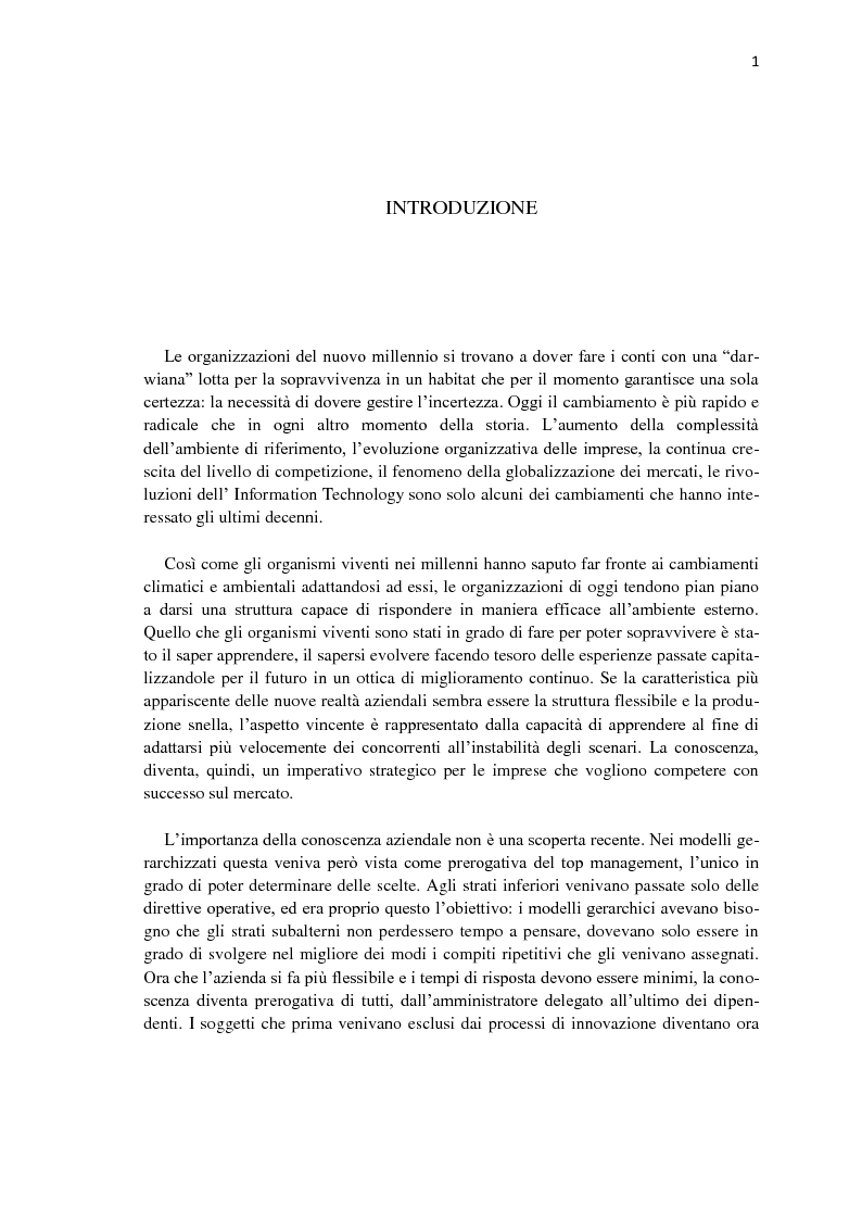 Anteprima della tesi: Knowledge workers & knowledge management, Pagina 1