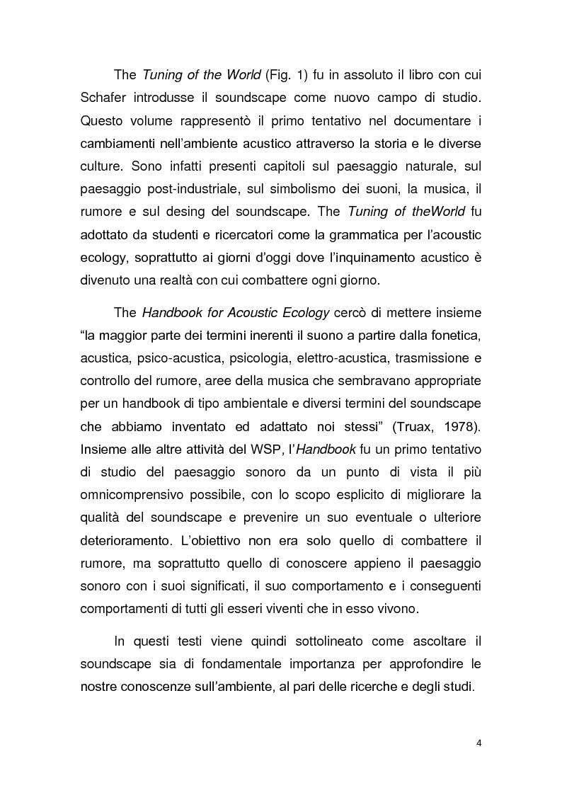 Anteprima della tesi: Contributo allo studio del soundscape: la nicchia acustica di Sylvia atricapilla, Pagina 3