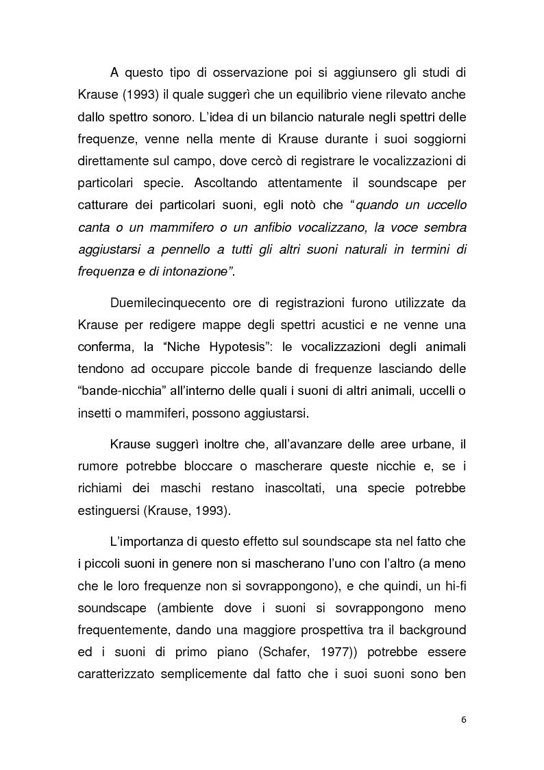 Anteprima della tesi: Contributo allo studio del soundscape: la nicchia acustica di Sylvia atricapilla, Pagina 5