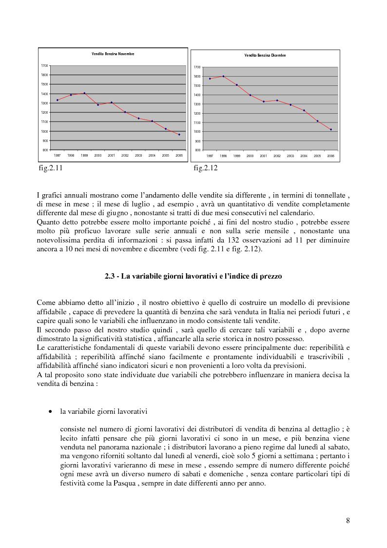 Anteprima della tesi: Modello di previsione della vendita di benzina e gasolio in Italia, Pagina 7