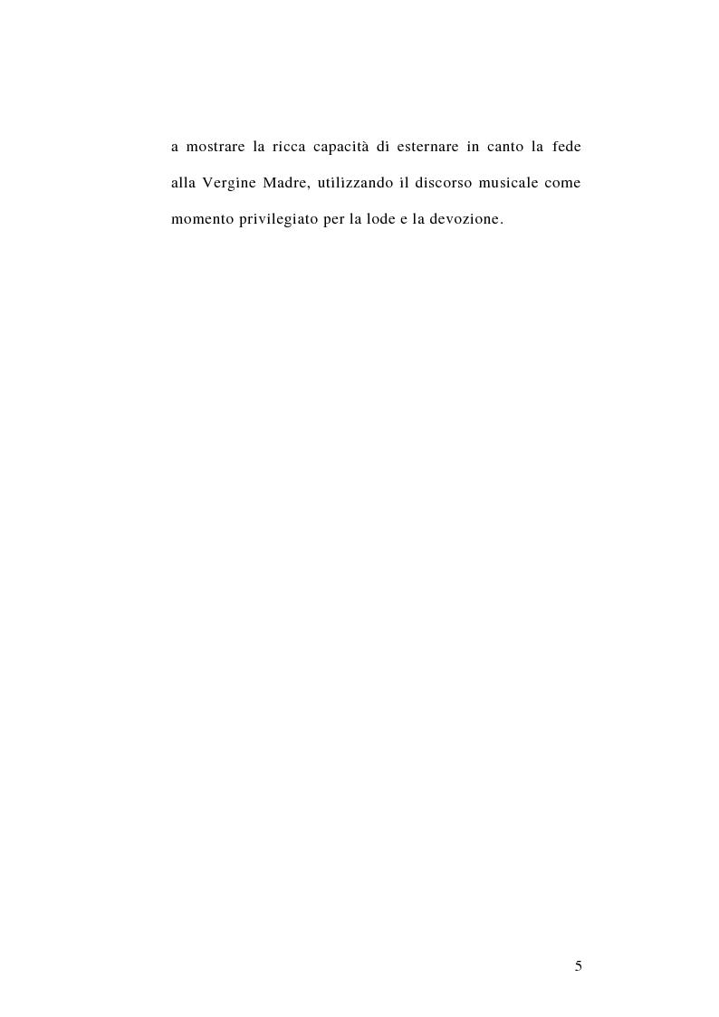 Anteprima della tesi: Maria Santissima fonte perenne d'ispirazione per la musica. La produzione musicale mariana nella musica colta. Lettura teologica di alcuni testi., Pagina 3