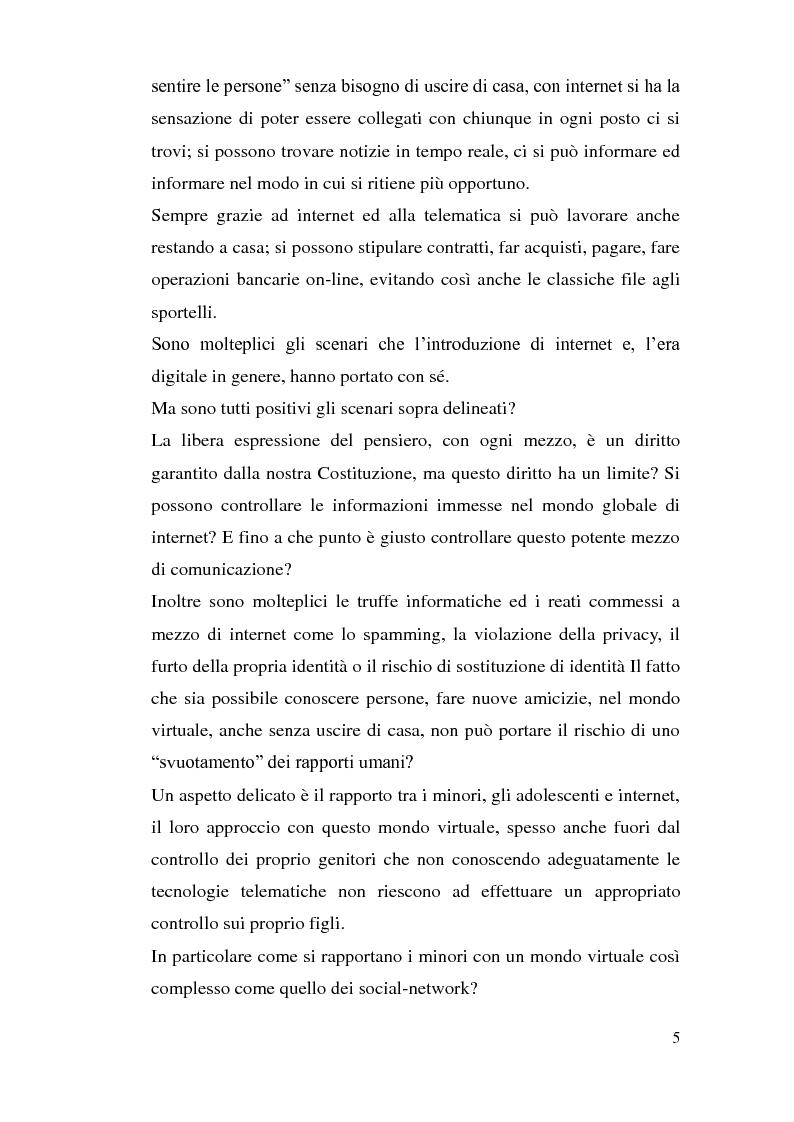 Anteprima della tesi: Tutela dei minori in Internet, Pagina 2