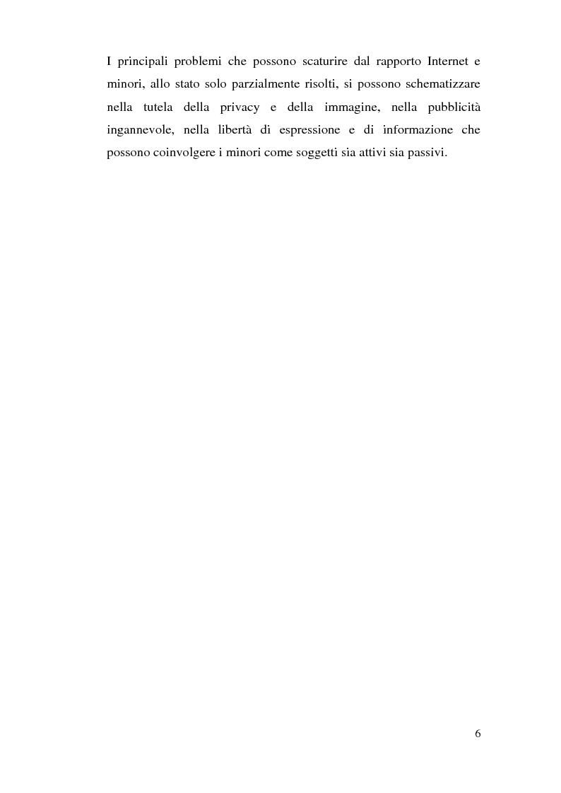 Anteprima della tesi: Tutela dei minori in Internet, Pagina 3
