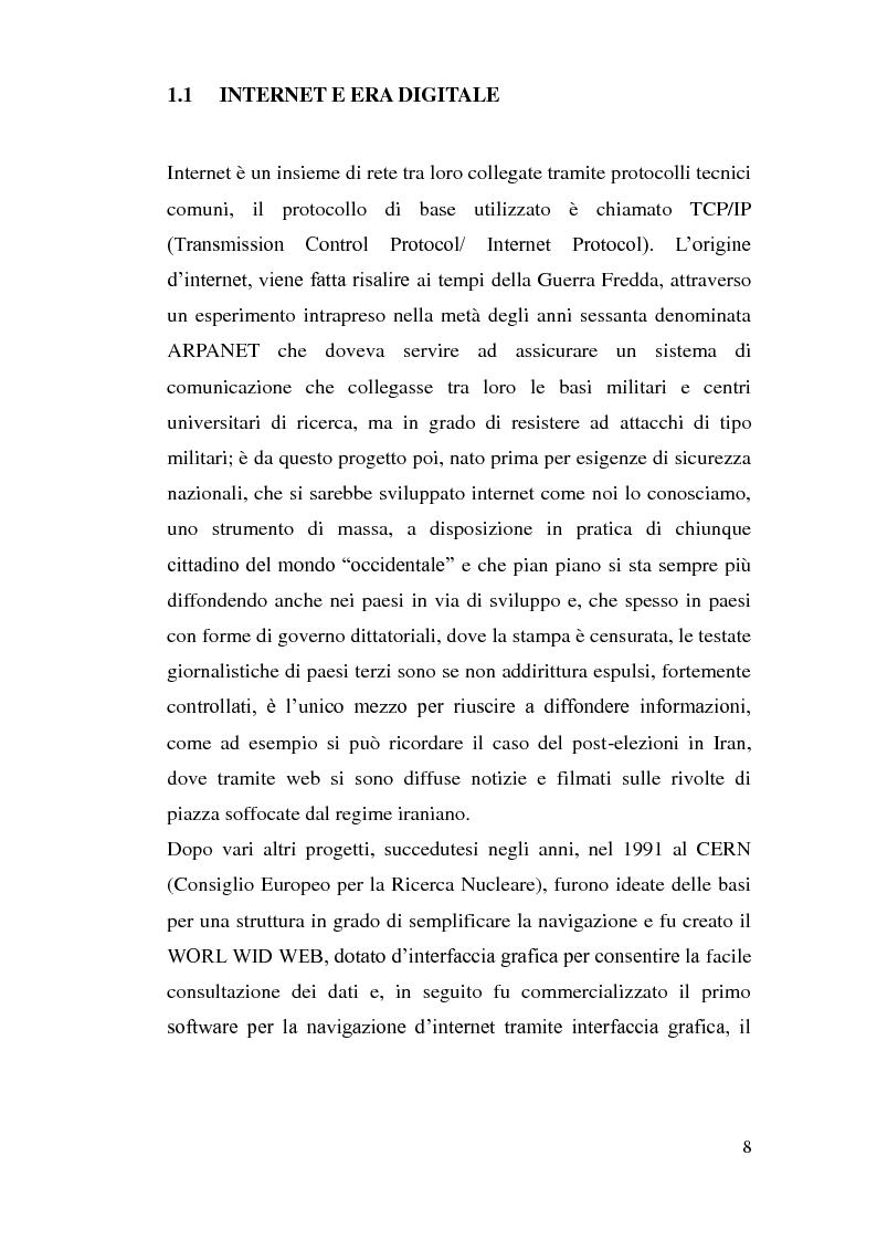 Anteprima della tesi: Tutela dei minori in Internet, Pagina 5