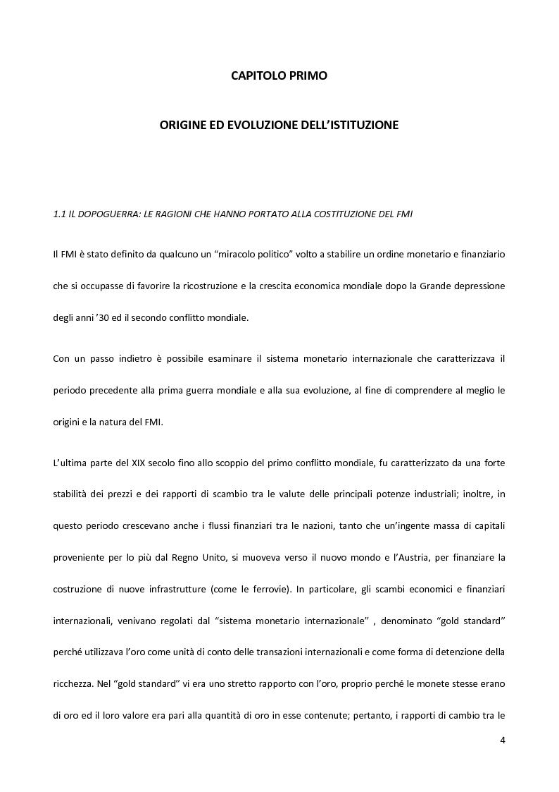 Anteprima della tesi: Il Fondo Monetario Internazionale e i principi di condizionalità, Pagina 4