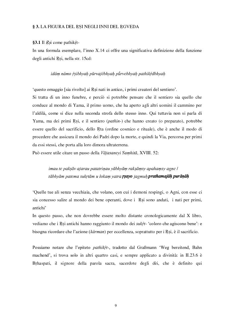 Anteprima della tesi: La funzione e la figura del Ṛṣi nel Ṛgveda, Pagina 10
