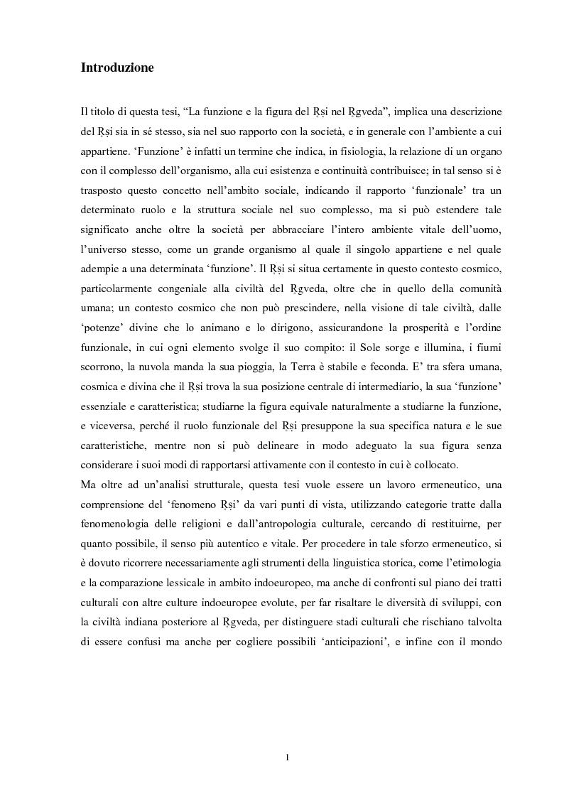 Anteprima della tesi: La funzione e la figura del Ṛṣi nel Ṛgveda, Pagina 2