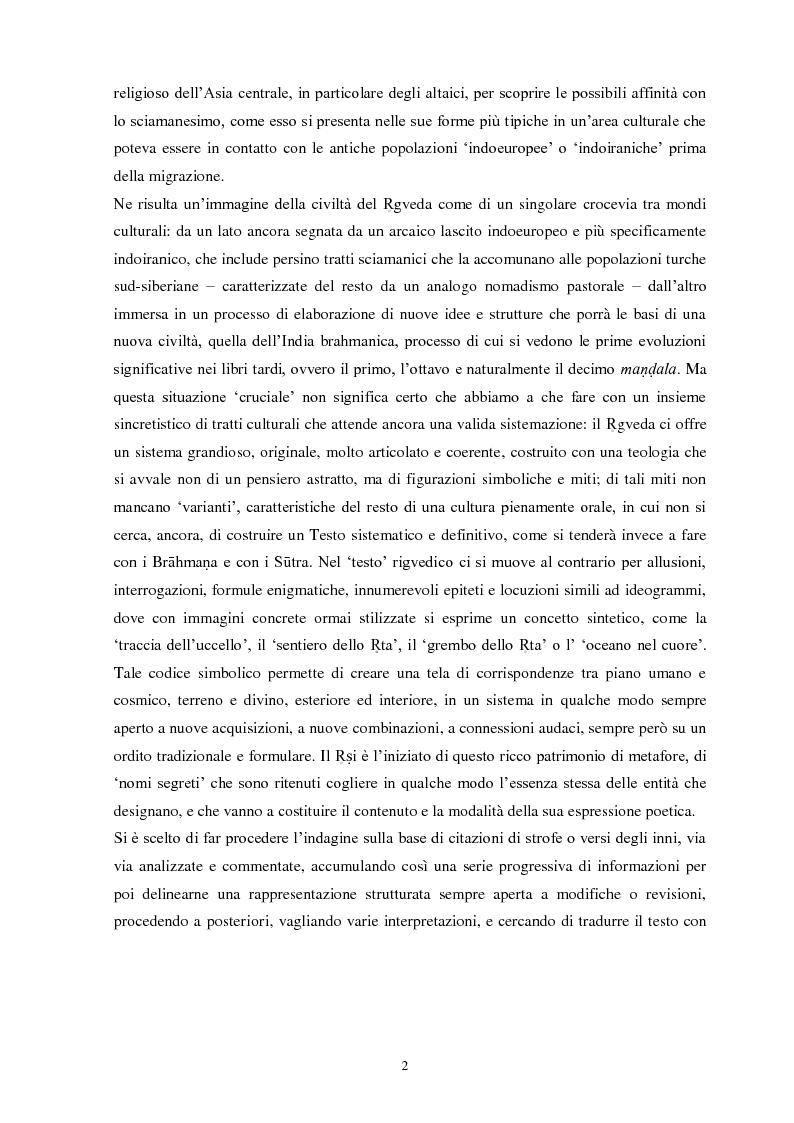 Anteprima della tesi: La funzione e la figura del Ṛṣi nel Ṛgveda, Pagina 3