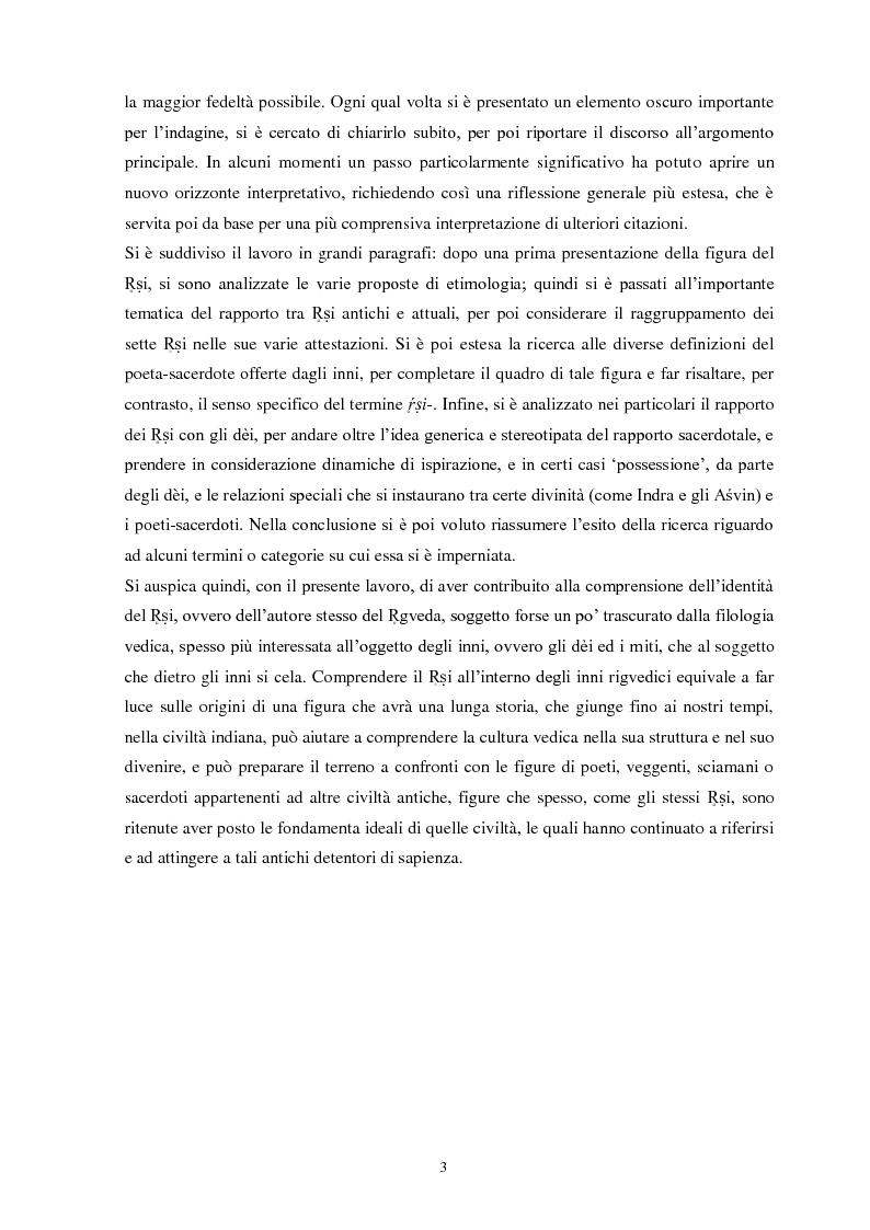Anteprima della tesi: La funzione e la figura del Ṛṣi nel Ṛgveda, Pagina 4