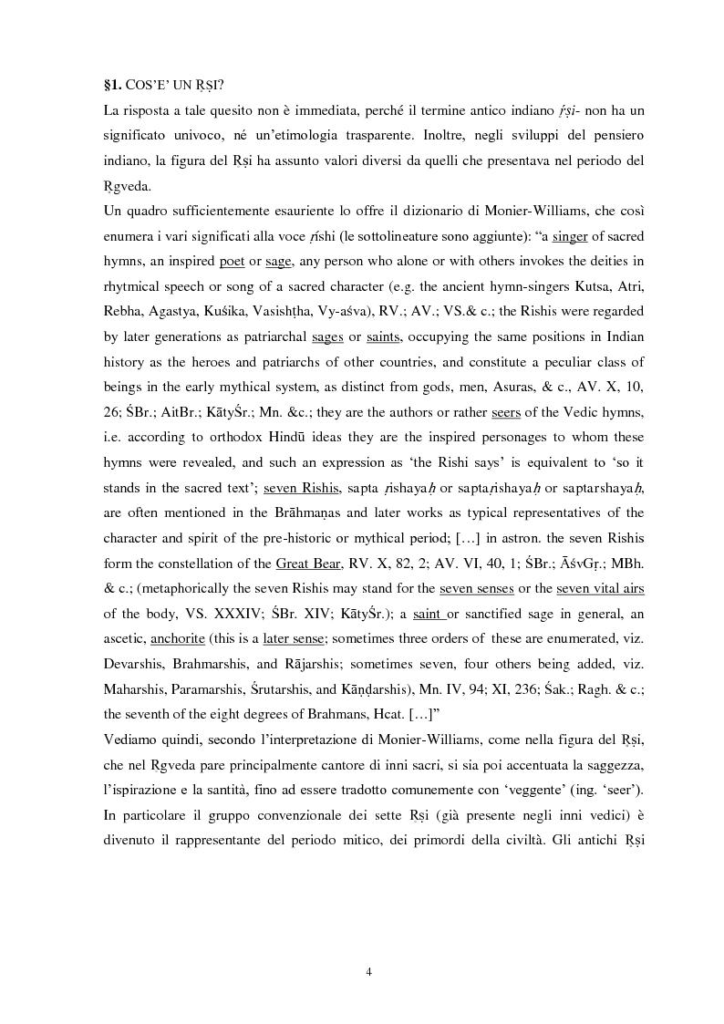 Anteprima della tesi: La funzione e la figura del Ṛṣi nel Ṛgveda, Pagina 5
