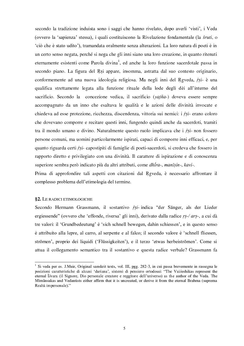 Anteprima della tesi: La funzione e la figura del Ṛṣi nel Ṛgveda, Pagina 6