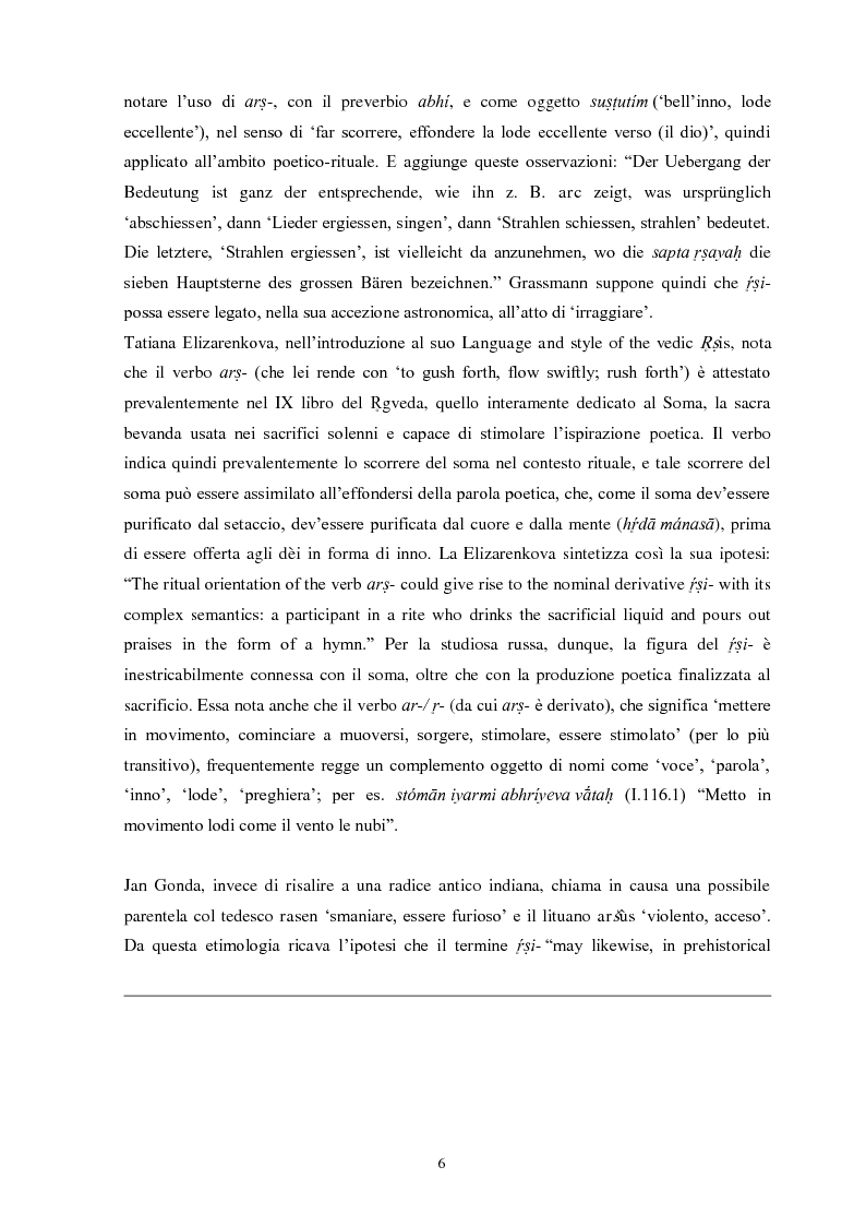 Anteprima della tesi: La funzione e la figura del Ṛṣi nel Ṛgveda, Pagina 7