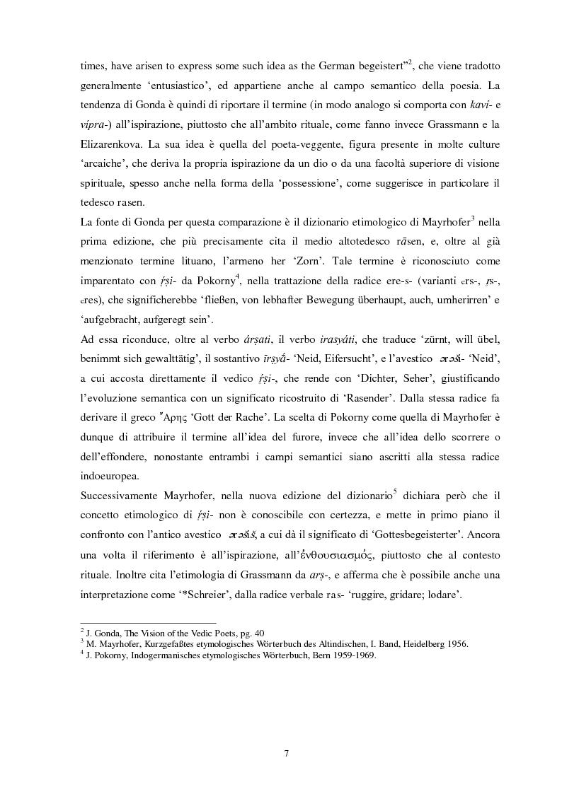 Anteprima della tesi: La funzione e la figura del Ṛṣi nel Ṛgveda, Pagina 8