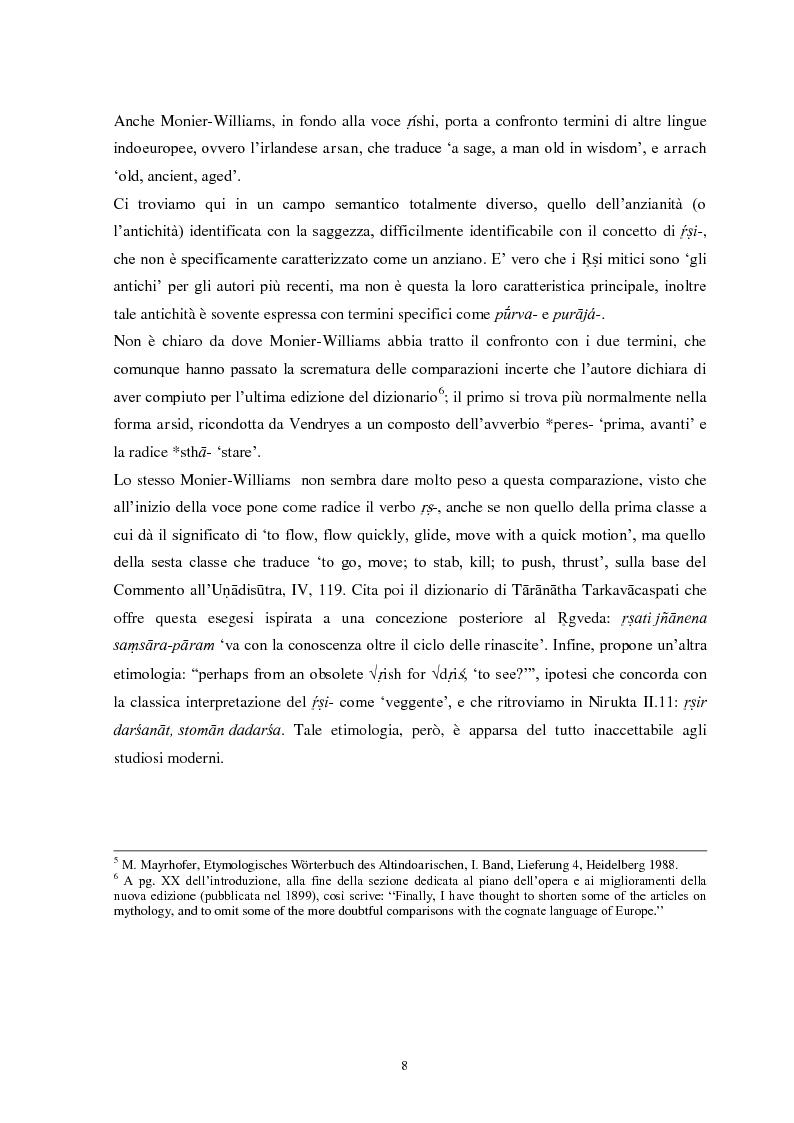 Anteprima della tesi: La funzione e la figura del Ṛṣi nel Ṛgveda, Pagina 9